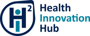 University of Toronto's Health Innovation Hub logo in light and dark blue text. Click image to be redirected to the Health Innovation Hub website.